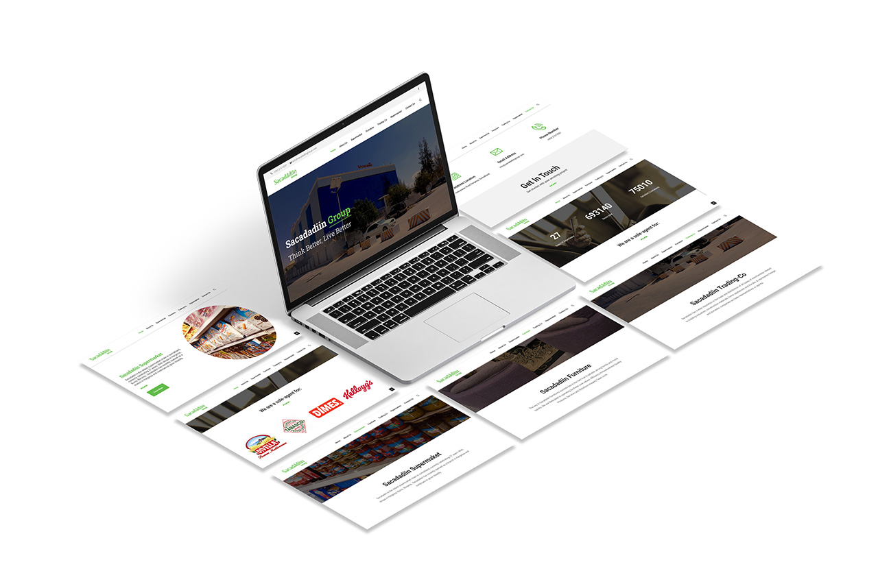 Sacadadiin Group Website Design