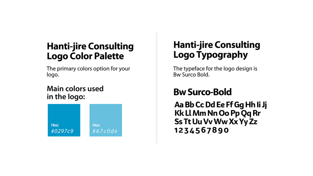 Hantijire Consulting Brand Font & Colors